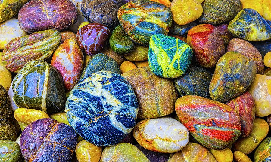 Image of a variety of colored rocks