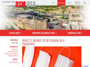 Screenshot of DSM USA article