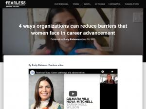 Screenshot of Fearless article