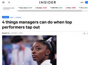 Screenshot of Insider article